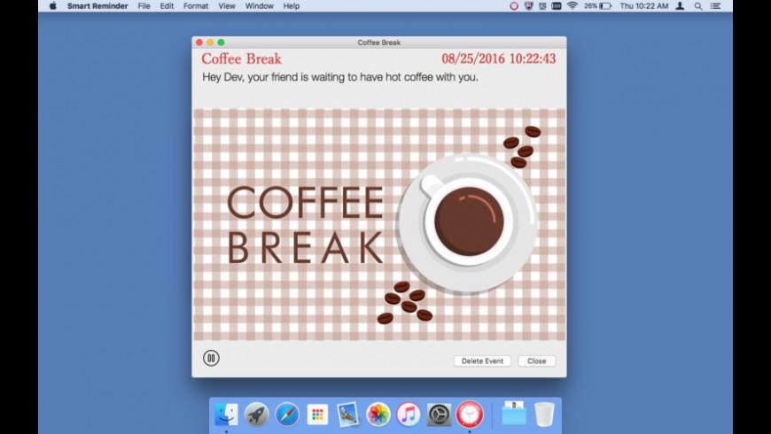 Smart Reminder for Mac - review, screenshots