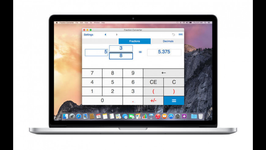 Fraction Converter for Mac - review, screenshots