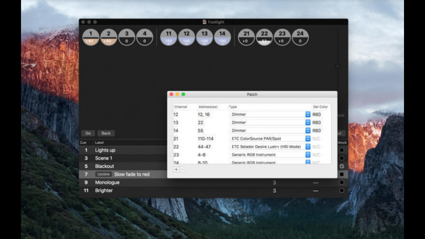 Footlight for Mac - review, screenshots