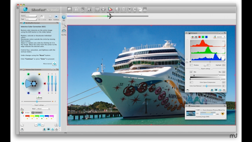 SilverFast (Microtek) for Mac - review, screenshots