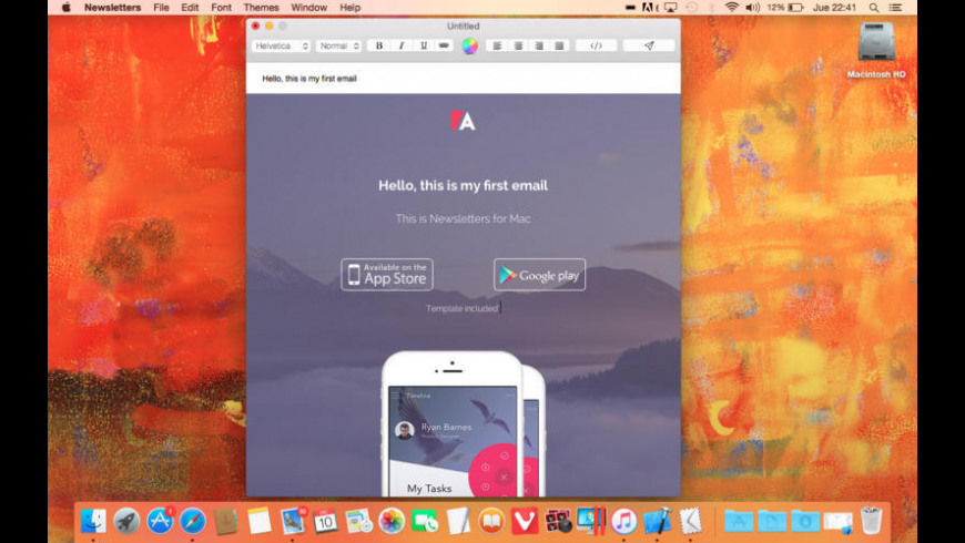 Newsletters for Mac - review, screenshots
