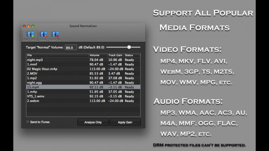 Sound Normalizer for Mac - review, screenshots