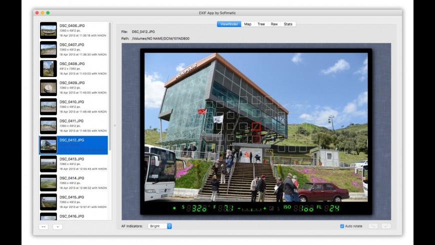 EXIF App for Mac - review, screenshots