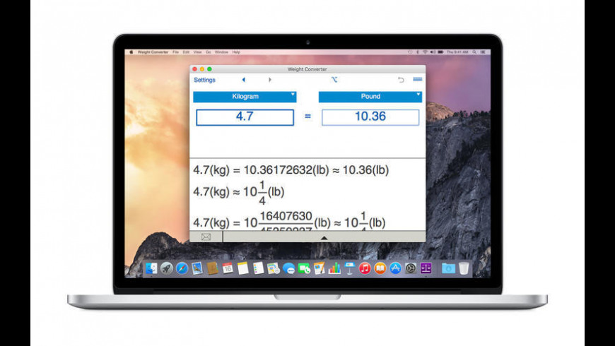 Weight Converter for Mac - review, screenshots