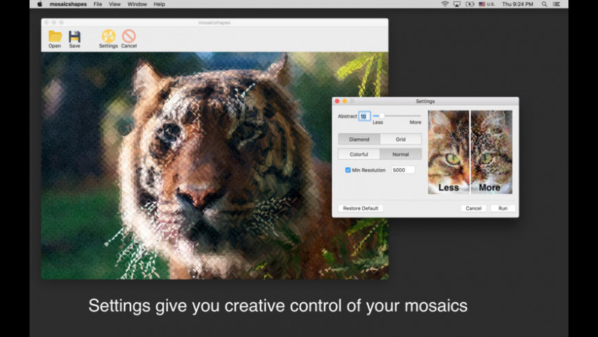 Mosaic Shapes for Mac - review, screenshots