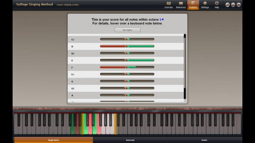 Solfege Singing Trainer for Mac - review, screenshots