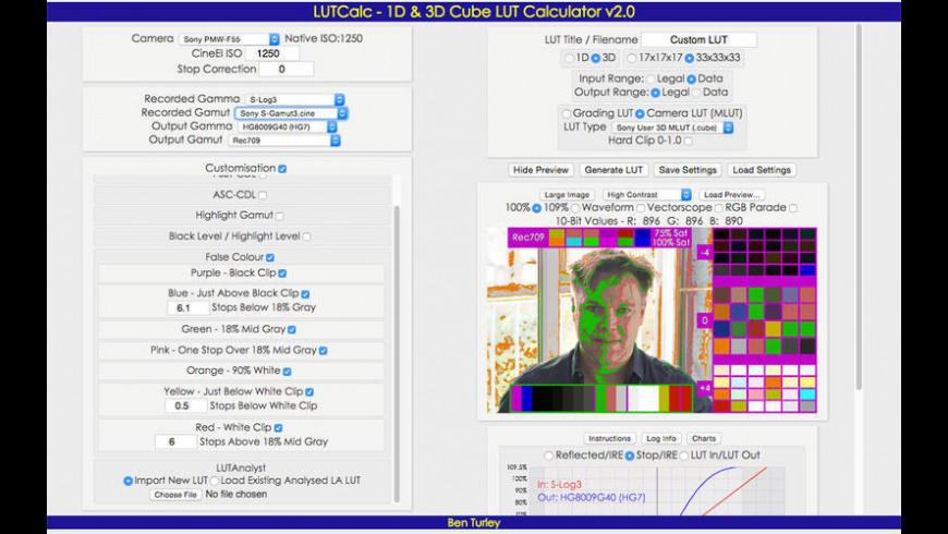 LUTCalc for Mac - review, screenshots