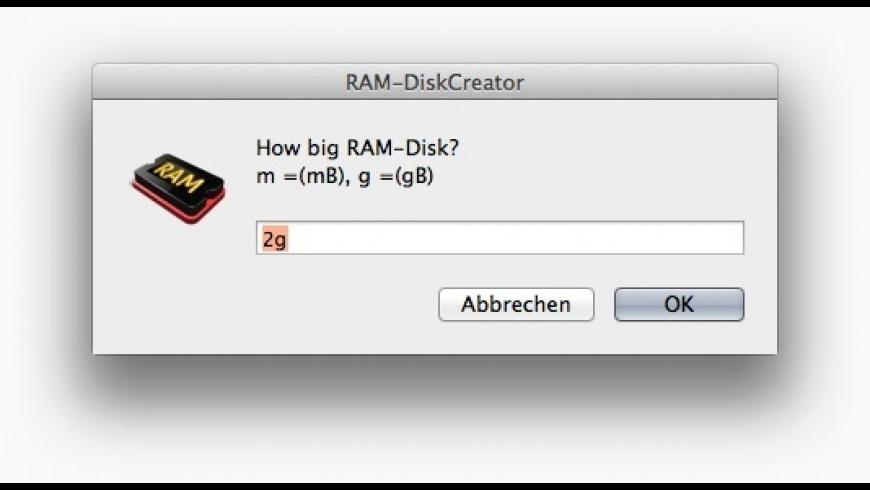 RamDiskCreator for Mac - review, screenshots