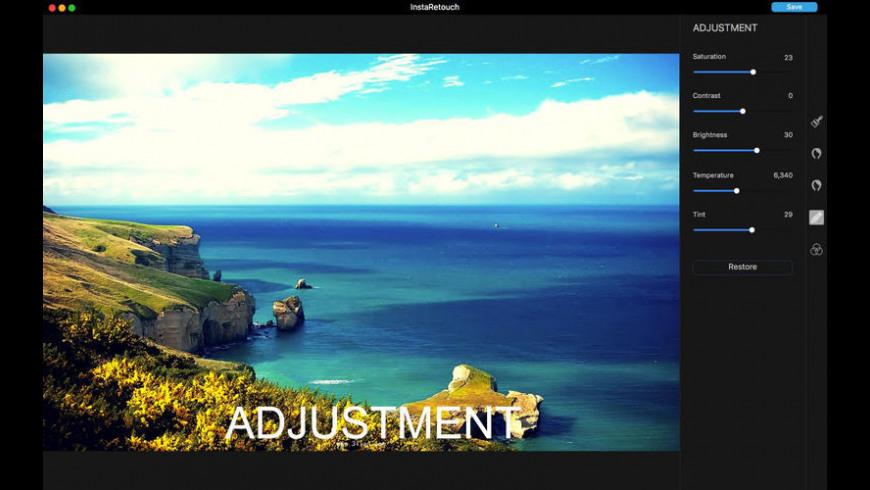 InstaRetouch for Mac - review, screenshots