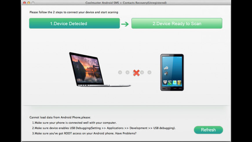 Coolmuster Android SMS + Contacts Recovery for Mac - review, screenshots