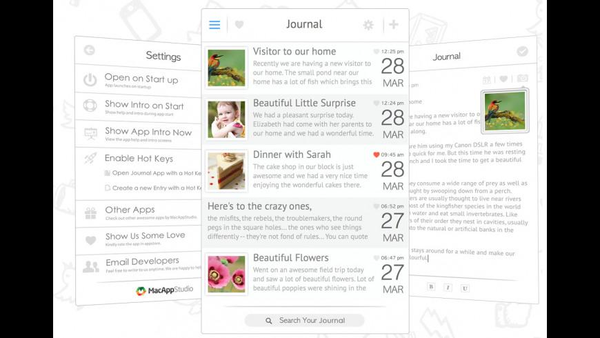 Journal for Mac - review, screenshots