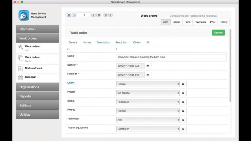 Nano Service Management for Mac - review, screenshots