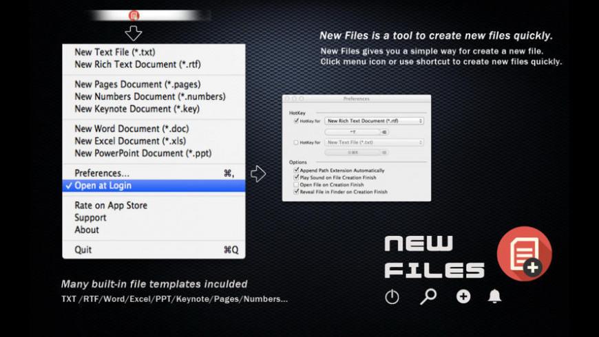 New Files for Mac - review, screenshots