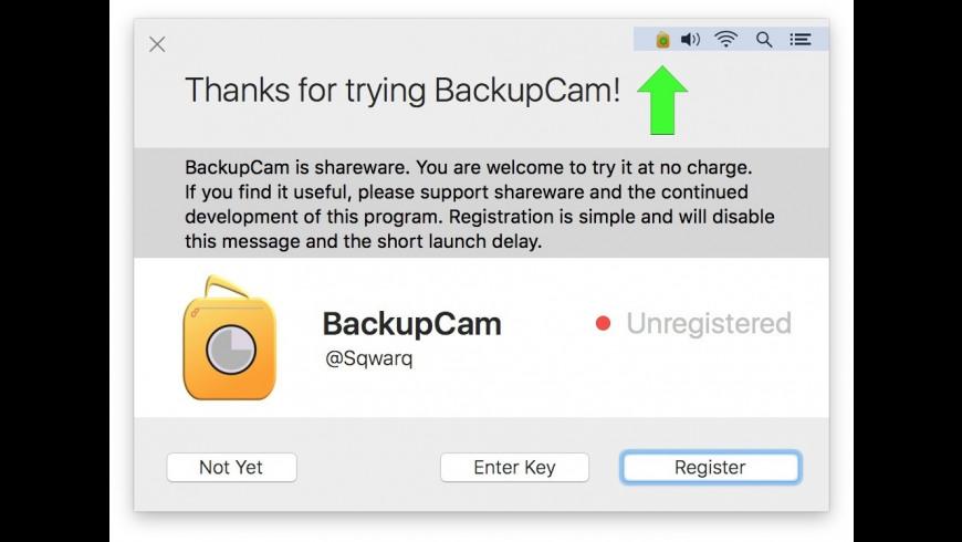 BackupCam for Mac - review, screenshots