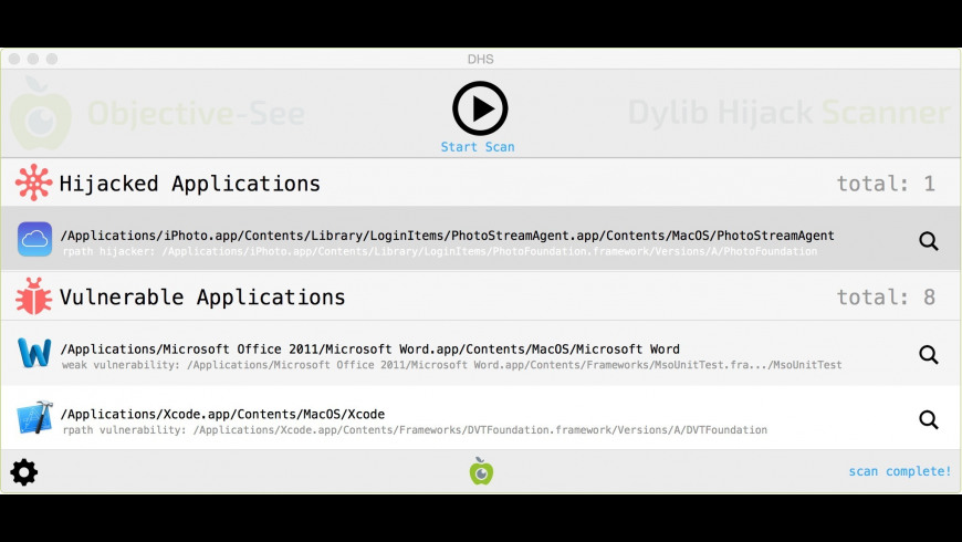 Dylib Hijack Scanner 1 4 1 Free Download for Mac | MacUpdate