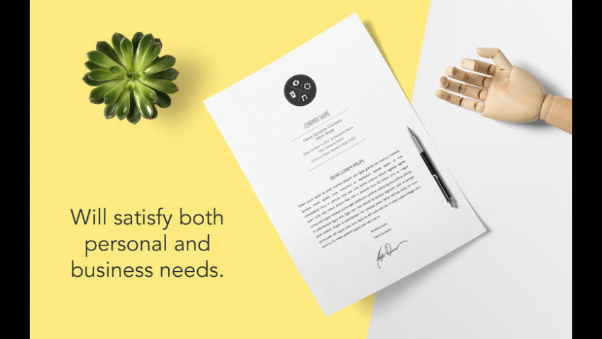 DesiGN Letters Templates for Mac - review, screenshots