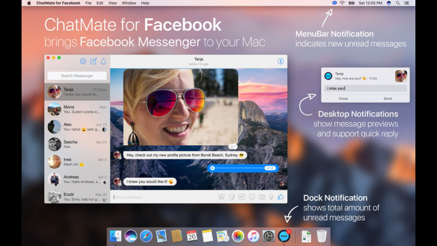 ChatMate for Facebook for Mac - review, screenshots