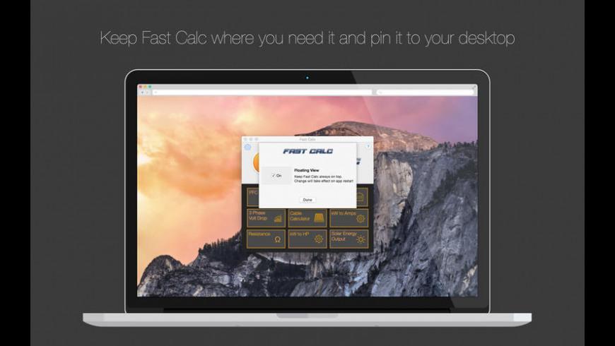 Fast Calc for Mac - review, screenshots