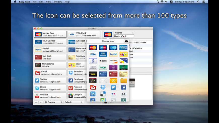 Easy Pass for Mac - review, screenshots