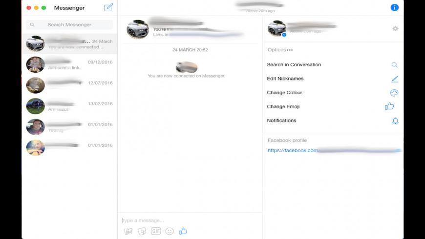Facebook Messenger Ultimate for Mac - review, screenshots