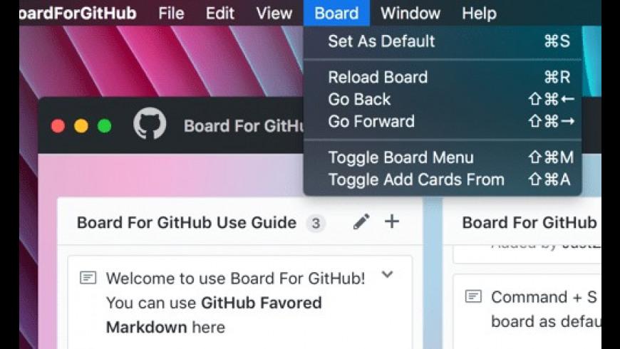 Board For GitHub for Mac - review, screenshots