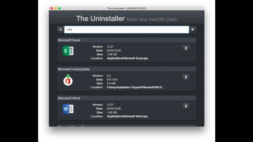 The Uninstaller for Mac - review, screenshots