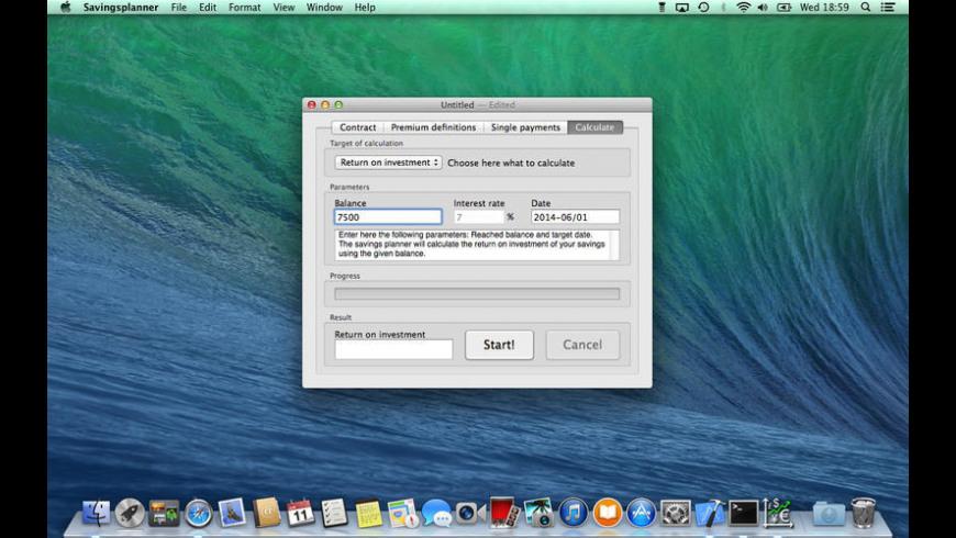 Savings planner for Mac - review, screenshots