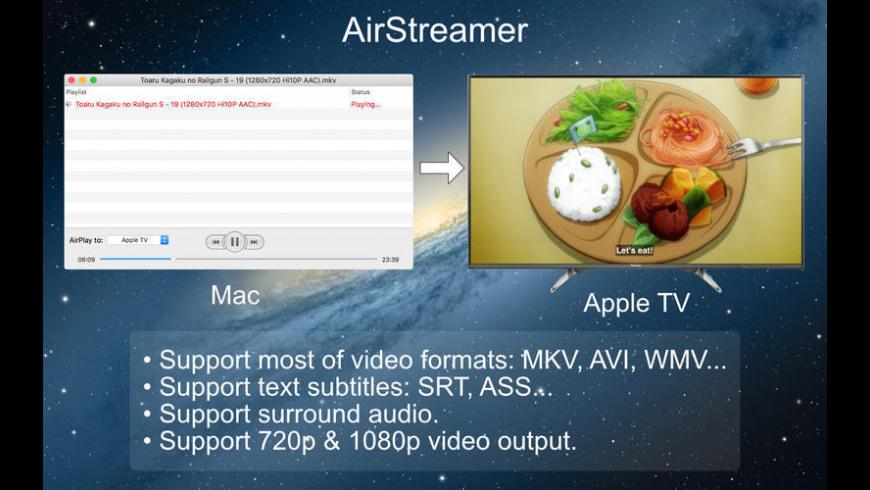 AirStreamer for Mac - review, screenshots