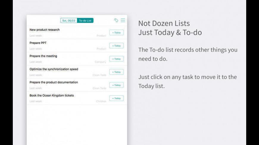 Clean Todo for Mac - review, screenshots