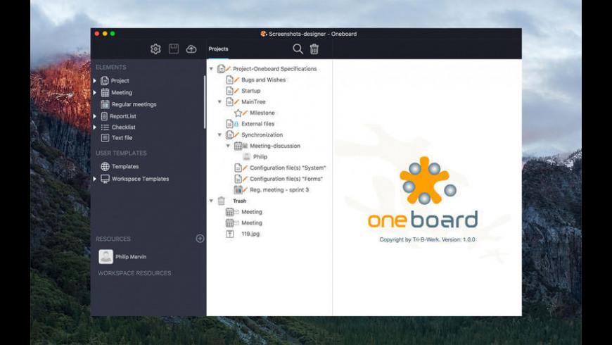 Oneboard for Mac - review, screenshots
