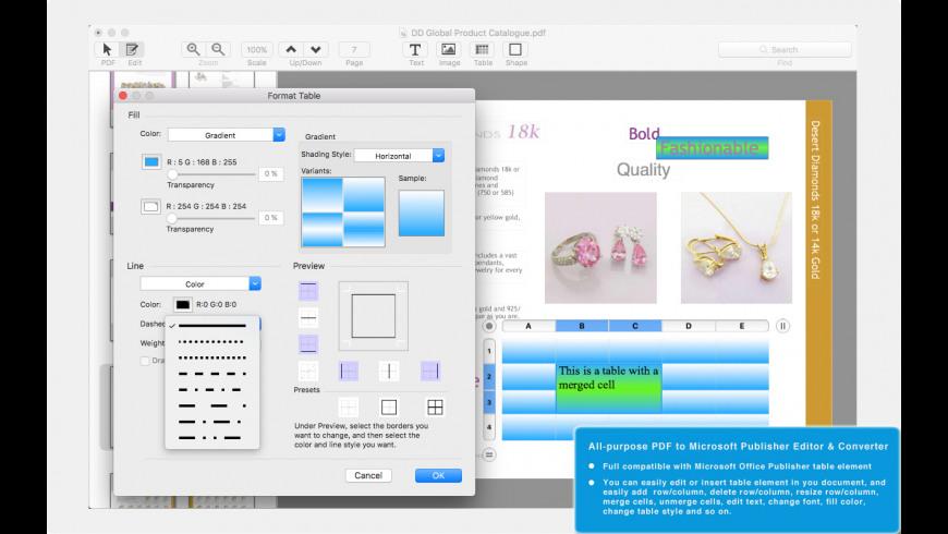 PDF to Publisher for Mac - review, screenshots