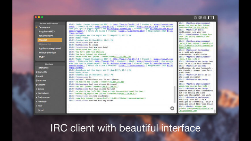 New IRC Live Chat Client 1 1 Free Download for Mac | MacUpdate