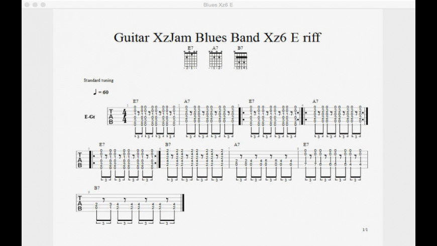 Guitar XzJam Virtual Band for Mac - review, screenshots