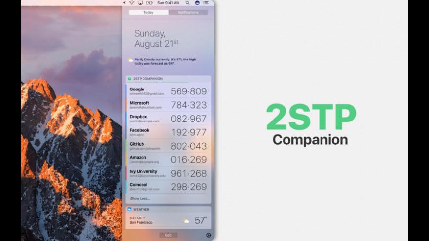 2STP Companion for Mac - review, screenshots