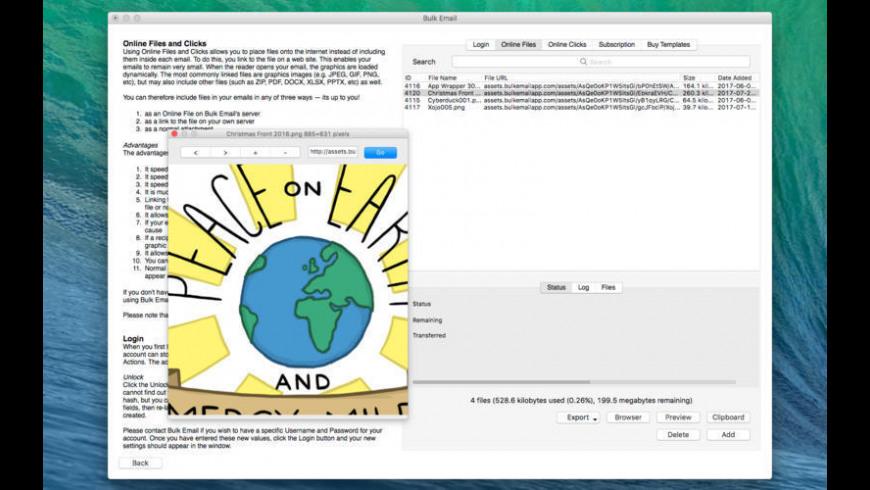 Bulk Email for Mac - review, screenshots