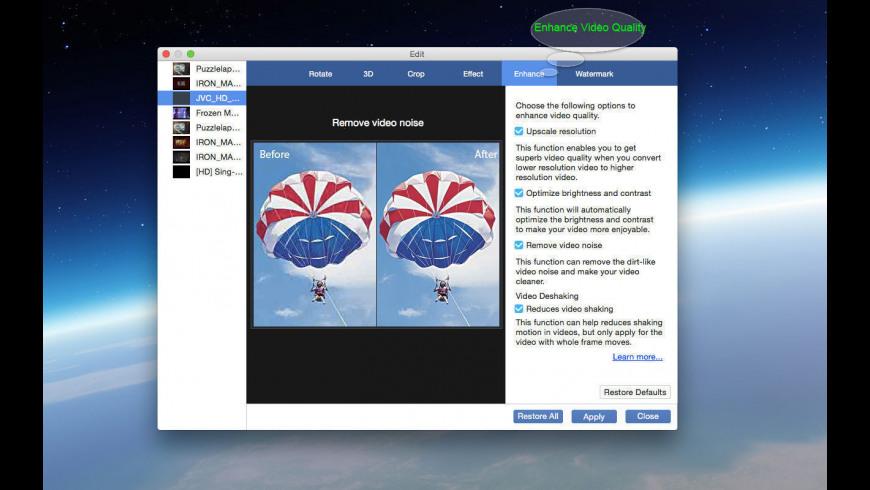 Super Video Editor Enhancer for Mac - review, screenshots