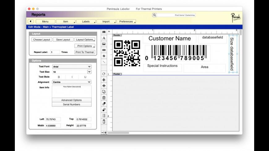 Labeller for Mac - review, screenshots