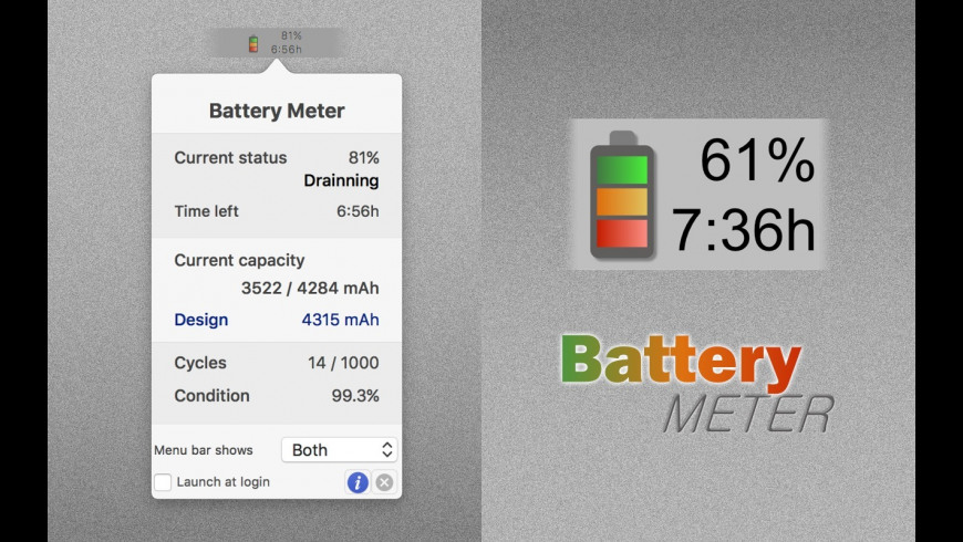 Battery Meter for Mac - review, screenshots