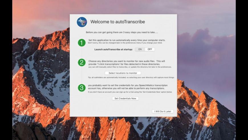 autoTranscribe for Mac - review, screenshots