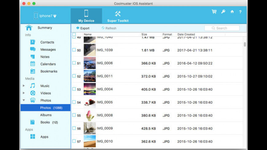 Coolmuster iOS Assistant for Mac - review, screenshots