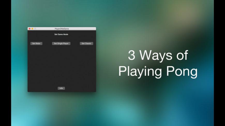 PlayerONeGame for Mac - review, screenshots