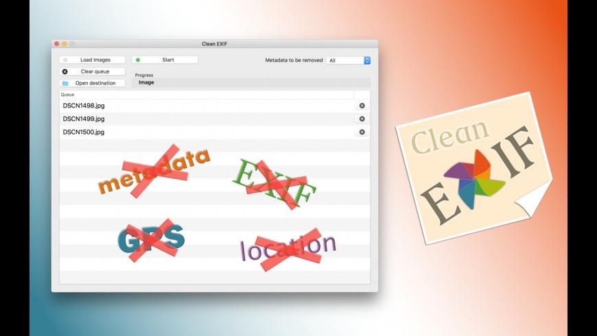 Clean EXIF for Mac - review, screenshots