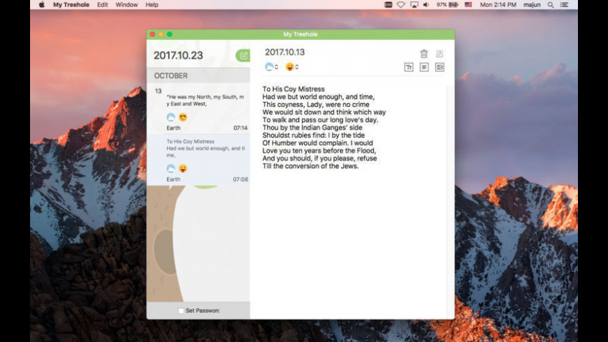 My Treehole Pro for Mac - review, screenshots