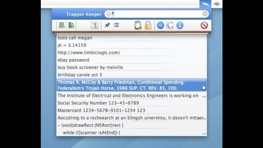 Trapper Keeper for Mac - review, screenshots