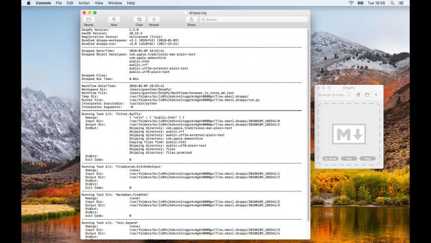 DropPy for Mac - review, screenshots