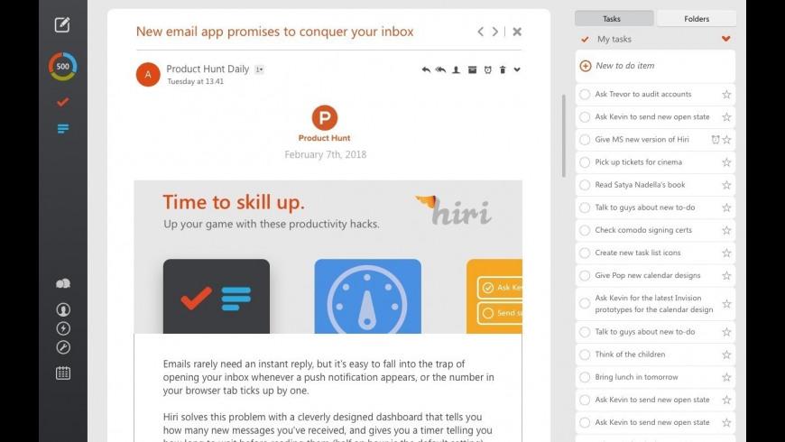 Hiri for Mac - review, screenshots