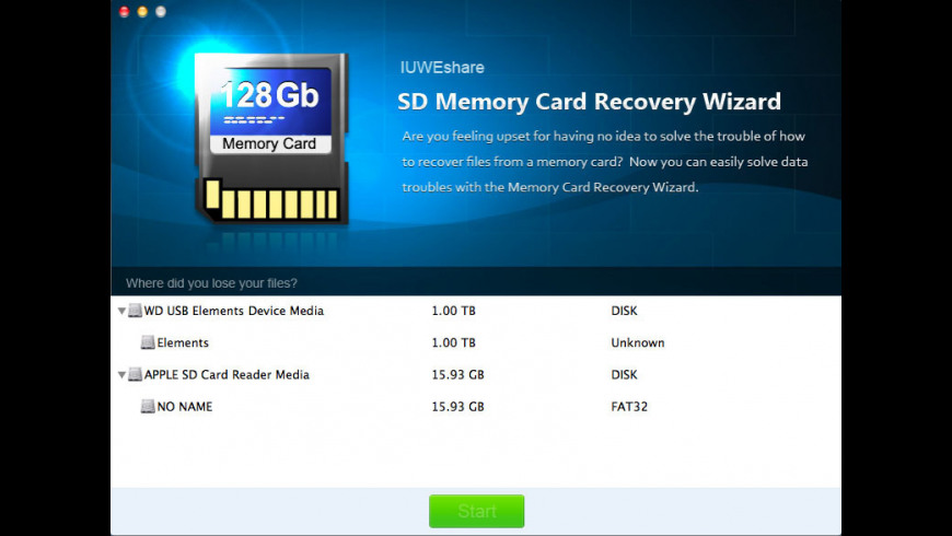 SD Memory Card Recovery Wizard for Mac - review, screenshots