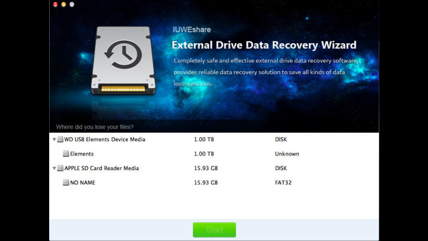 External Drive Data Recovery Wizard for Mac - review, screenshots