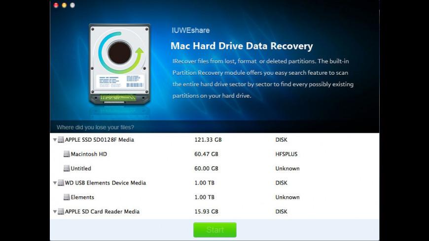 Hard Drive Data Recovery for Mac - review, screenshots