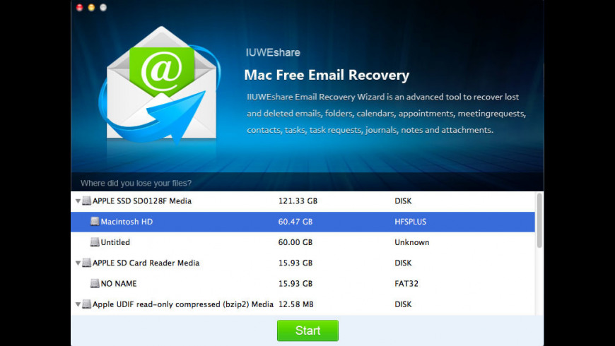 Email Recovery Pro for Mac - review, screenshots